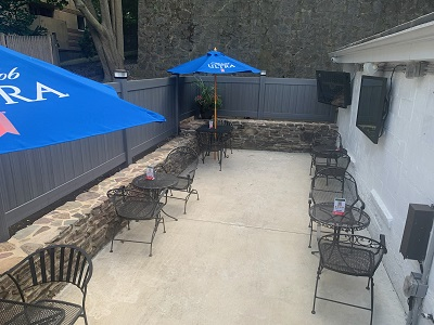 Full food and drink service inside and on our patio w/ HDTV and Keno!